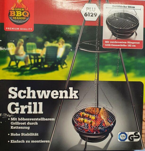 Dreibein Schwenkgrill 50 cm Holzhohle-Grill Dreibeingrill Dreibein Grill