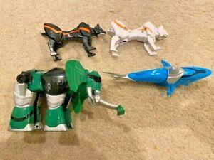 Power Rangers Jungle Fury MEGAZORD SHARK, WHITE PUMA, BLACK PUMA, ELEPHANT!