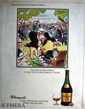 BISQUIT Cognac 'The Butler' Advert - Jensen after Bateman Series 1981 Print AD