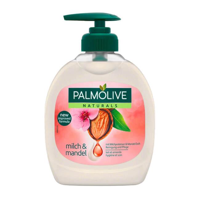 300ml Palmolive Naturals Jabón de Leche & Almendra Mandel-Duft Jabón Líquido