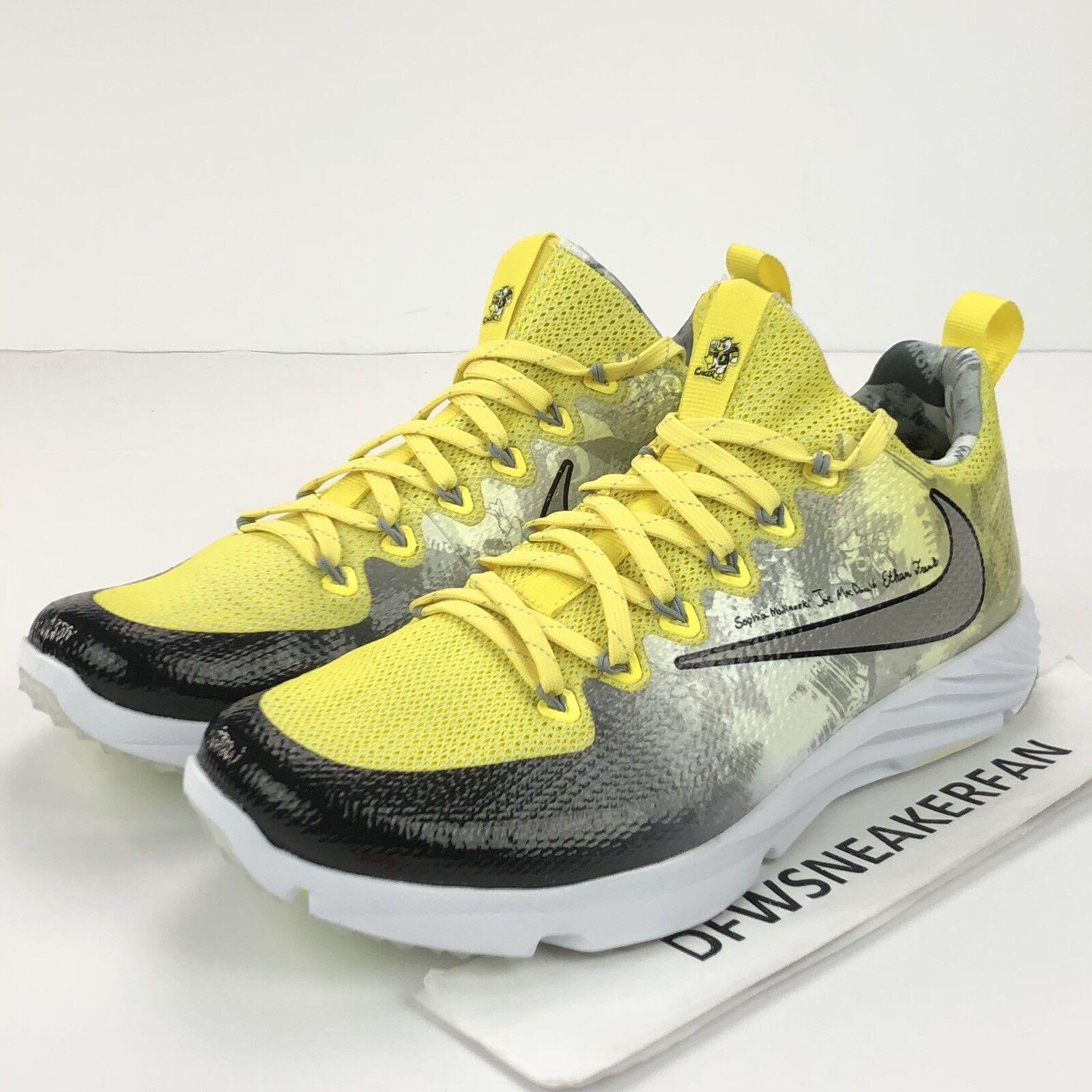 Nike Doernbecher Vapor Speed Turf Schuhe Herren Sz 11.5 Oregon Enten 923486-701