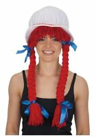 Adult Ragdoll Bonnet With Yarn Braids By Jacobson Hat One Size