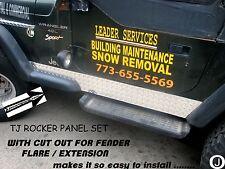 Jeep Wrangler TJ Diamond Plate Side ROCKER Panels with cut out SET  5 3/4 WIDE