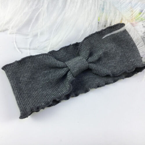 Women Solid Cross Twist Bowknot Hair Band Thread Knitted Wide Turban Winter New