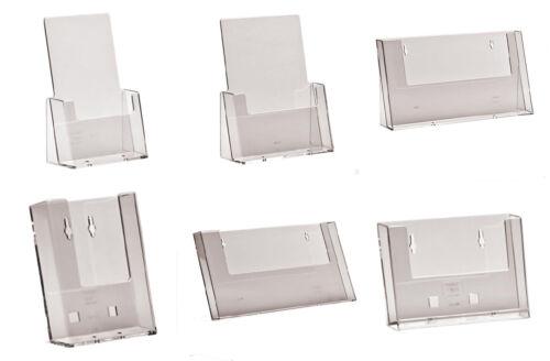 Brochure Support A6 Dl A5 & A4 Comptoir & Flyer Montage Mural Écran D'Affichage