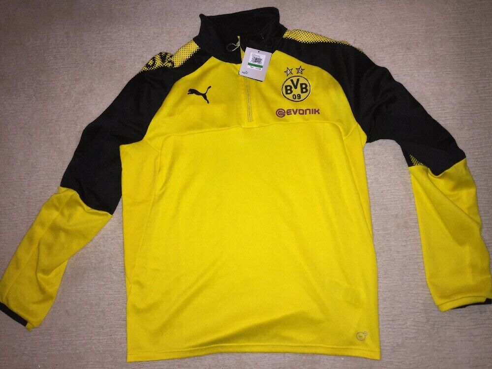 Puma Borussia Dortmund 14 Zip Training top, Dimensione Large, Pulisic, Reus