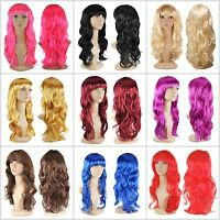 Women's  Sexy Long Curly Fancy Dress Wigs Cosplay Costume Ladies Full Wig Party
