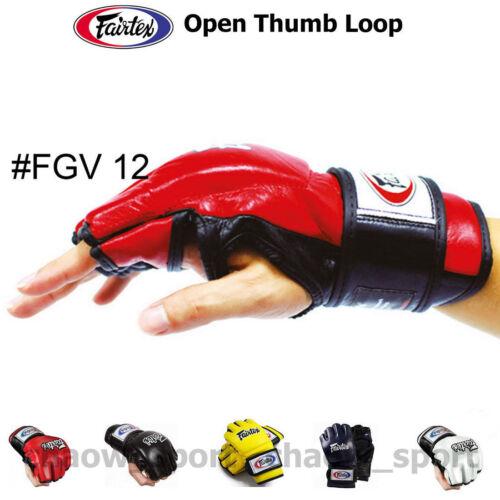 ARTS MMA K1 BOXING FAIRTEX FGV12 ULTIMATE COMBAT GLOVES OPEN THUMB LOOP MARTIAL