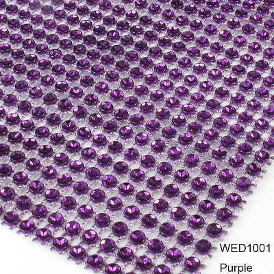 "4.6"" 1-10 Yards Wedding Diamond Mesh Wrap Roll Sparkle Rhinestone Looking Ribbon"