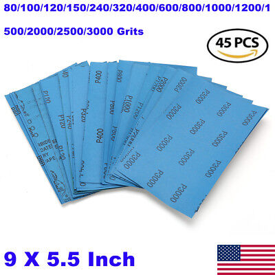 800 grit-50 Pack 9 X 11 Wet or Dry Waterproof Silicon Carbide Sandpaper Sheets