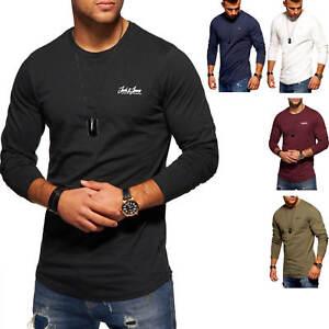 Jack-amp-Jones-Hommes-Oversize-Chemise-Manches-Longues-Chemise-longue-O-Neck-hommes-shirt-shirt