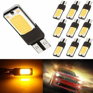 10x-Amber-Canbus-Error-Free-T10-5050-LED-5smd-Wedge-Car-Light-Bulb-W5W-194-168