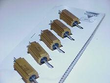 Lot/5 Each Vishay Dale POWER RESISTORS Aluminum Cased-5 ohm-1%-25 watt RH-25