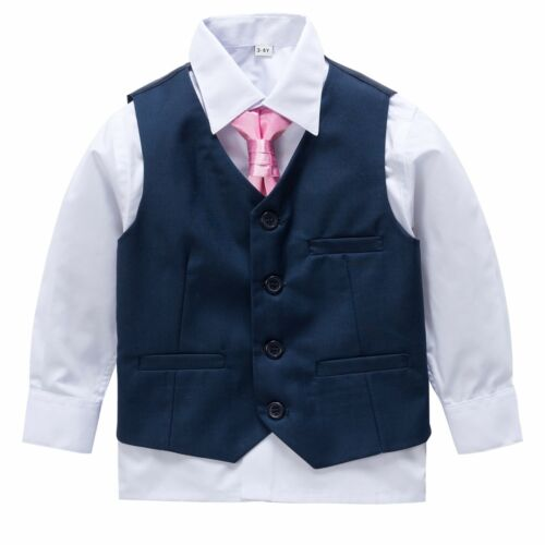 Page Boy Christening Formal Wedding Tuxedo 4pc Navy Suit From 3 Ms 8 Yrs