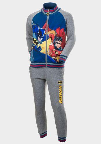 6yrs-12yrs Batman Design Character Boys Grey 2-piece Tracksuit Grey