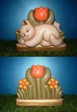 THUN Porta tovaglioli tutto in ceramica con gatto Fuori produzione raro