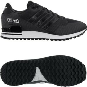 Adidas-ZX-750-WV-schwarz-Herren-Low-Top-Sneakers-Textilgewebe-Freizeitschuhe-NEU