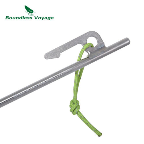 Titanium Tent Stakes Pegs 20cm Outdoor Hiking Tent Nails Camping Accessories