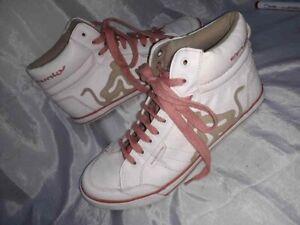 sale retailer b4e08 d1112 Dettagli su Sneakers Drunknmunky Scarpe Alte Ginnastica Caviglia donna 39  Bianc Woman Shoes