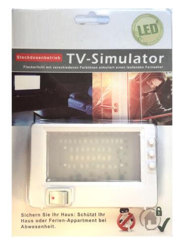 TV Dummy Fernseh Simulator Imitator Einbruchschutz frü Steckdose Attrappe Fake