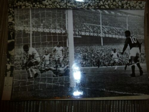 1966 world Cup Original Press Photograph BRAZIL v HUNGARY at Goodison Park