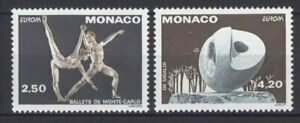 Monaco-1993-Europa-Contemporary-Art-Ballet-Dance-stamps-set-2v-MNH