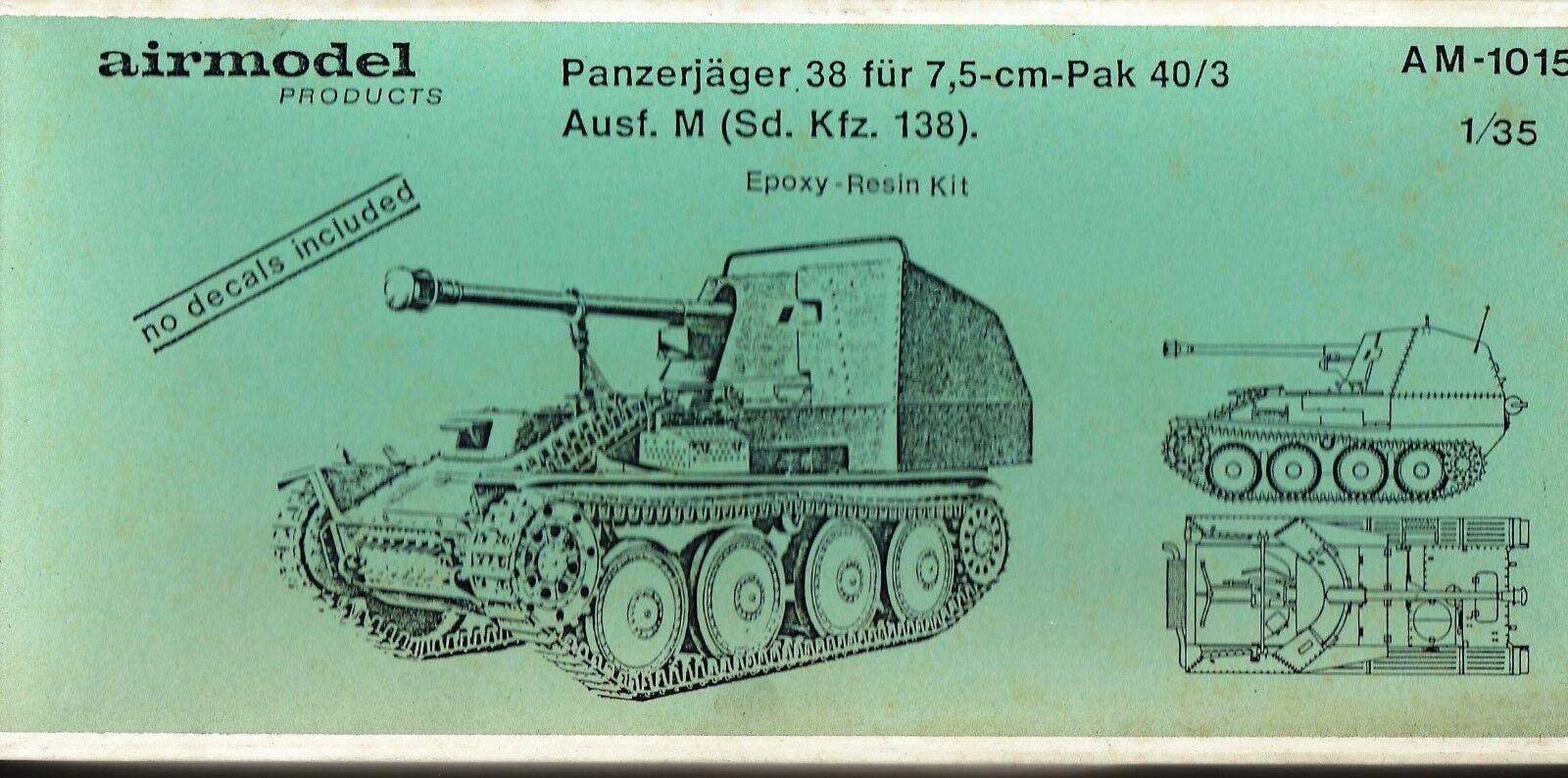 AIRMODEL Products am-1015 - Panzerjager 38 Fur 7,5cm Pak 40 3 Ausf. M 1 35 resin