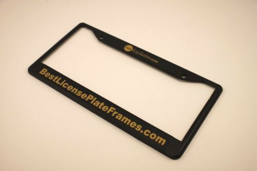CUSTOM Personalized Metal Black Gold CLASSIC 1960 Legacy CA License Plate Frame
