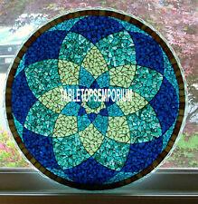 60'' Marble Malachite Lapis Stone Dining Table Top Inlaid Semi Precios Art Decor