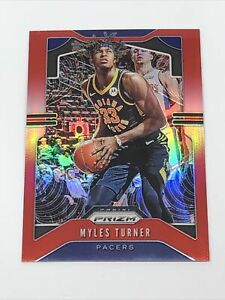 2019-20 Panini Prizm Red # /299 Myles Turner #216 Indiana Pacers