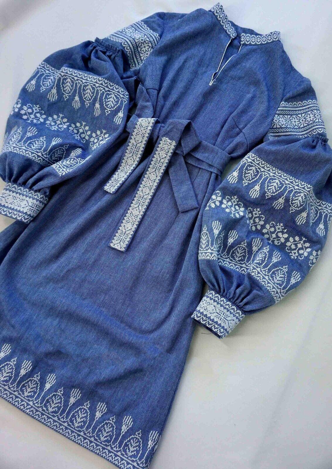 Vestido bordado hecho a mano en el estilo de  Boho, ucraniano Vyshyvanka + Regalo  nueva marca
