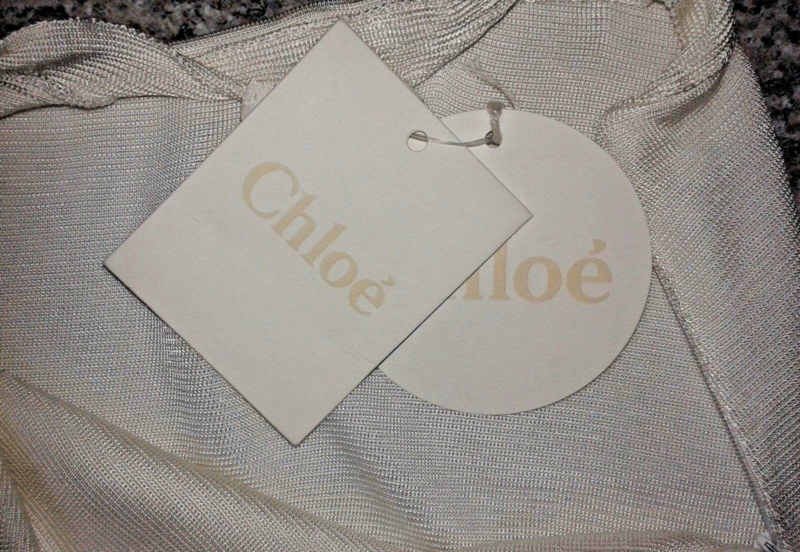Chloe Off-White Viscose Midi Skirt - Small