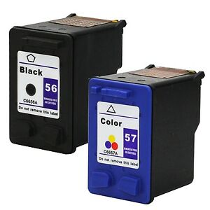2PKs-HP-56-57-Black-amp-Color-Ink-Cartridge-C6656AN-C6657AN-Combo-Pack