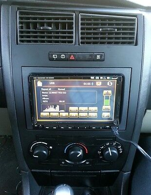 Factory Radio Replacement Navigation GPS Double Din Aftermarket Dash Kit Mount