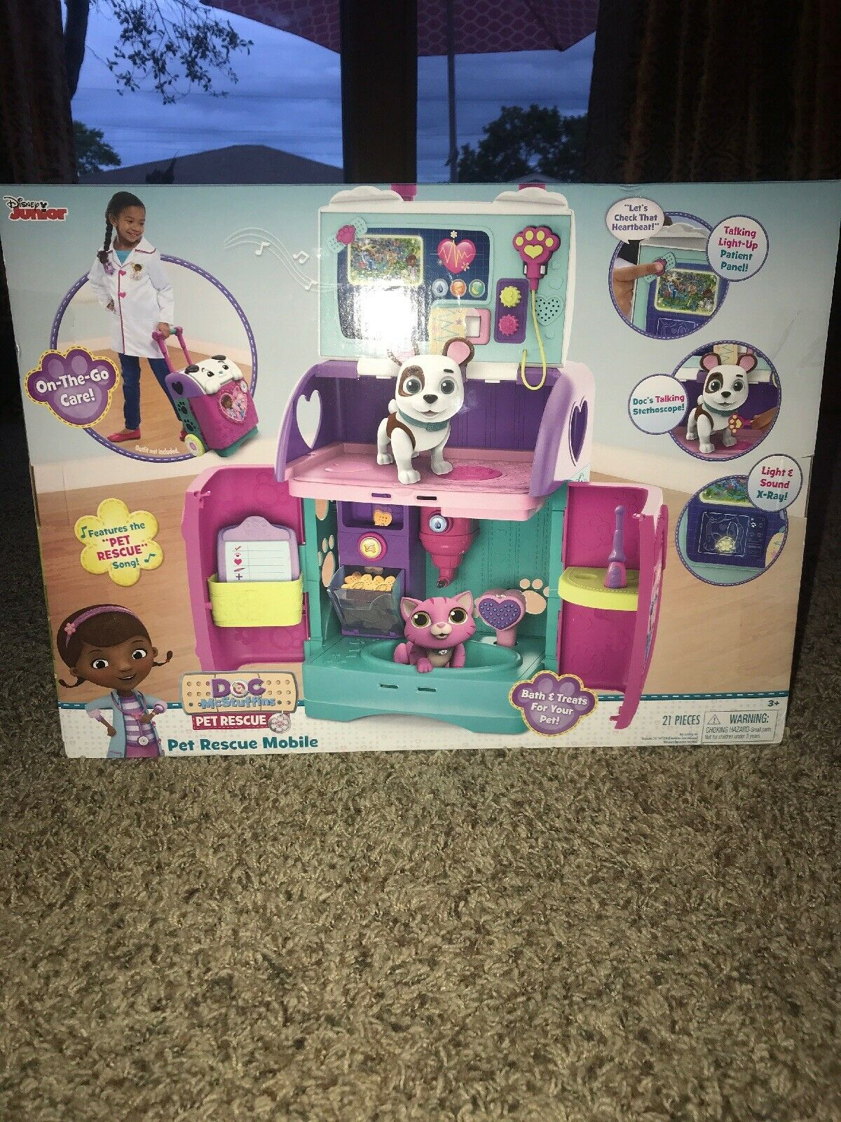 Doc McStuffins 92446 bebis Alla i en barnförbäddnings bilen, MultiFärg