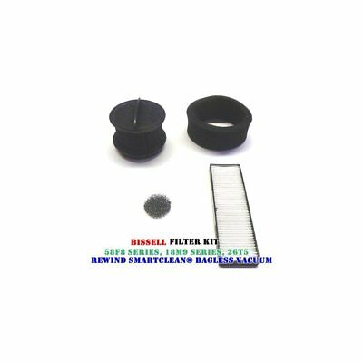 Inc Bissell Rewind Smart Clean// Power Clean// Power Helix Filter Replacement Kit