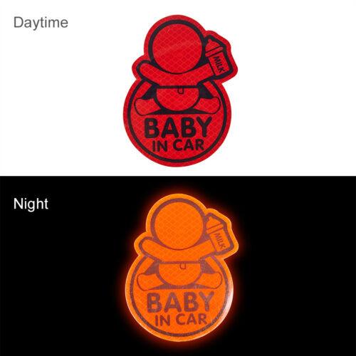 Reflective Baby On Board Baby in Car Window Bumper Sticker Vinyl Decal Cute Sign