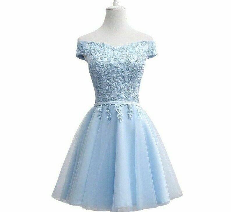 Weddings Party Dresses Short A Line Laces Boat Neck Spandex Chiffon Off Shoulder