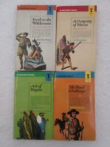 Lot-of-Dale-Van-Every-THE-FIRST-AMERICAN-FRONTIER-4-Vol-Set-Mentor-1962
