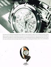 PUBLICITE ADVERTISING 124  1997  HERMES  collection montre CHRONOGRAPH CLIPPER