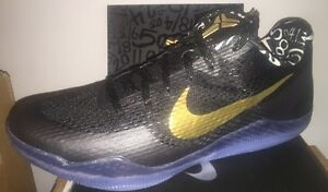 huge selection of e787d 61b61 Image is loading Nike-Kobe-XI-11-iD-Gold-Black-Mamba-