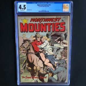 Approved-Comics-12-St-John-1954-CGC-4-5-MATT-BAKER-Northwest-Mounties