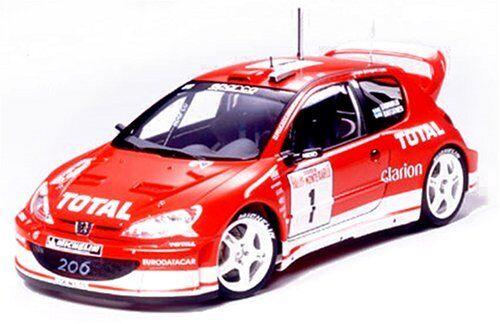 Tamiya 1   24 sportwagen - serie peugeot 206 wrc 2003