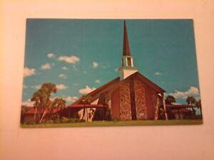 Vtg-1950-1960-039-s-Postcard-JOHN-H-MAGUIRE-AUDITORIUM-LAKE-YALE-BABTIST-Leesburg
