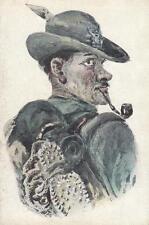 C2210) WW1, ALPINO FUMA LA PIPA.