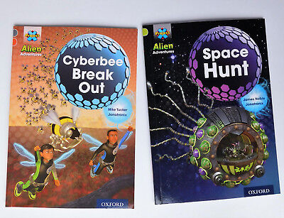 2 easy childrens books Cyberbee Break Out Space Hunt Project X Alien Adventure