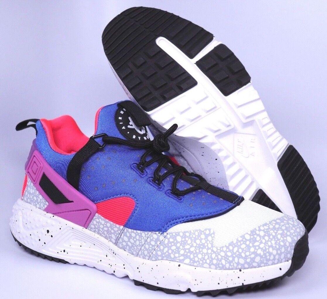 Nike Shoes Huarache Utility PRM Mens Blue White Running Shoes Nike Size 8 | 806979-104 85fd44