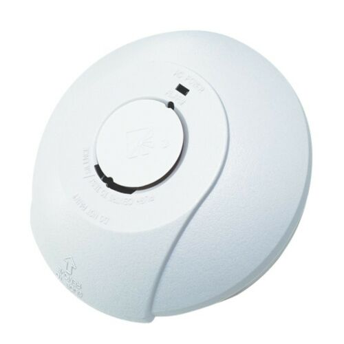 HiSPEC IO Interconnectable Mains Fire Smoke Alarm Battery Backup 5 Yr Guarantee