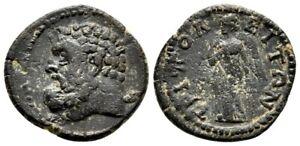 *AET* TRIPOLIS (Lydia) AE18. Pseudo-Autonomous issue. EF-/VF+. Ca. 2nd cent AD.