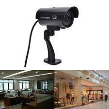 Quality Dummy Fake Outdoor Indoor Security Camera Night Blinking LED BLACK HF